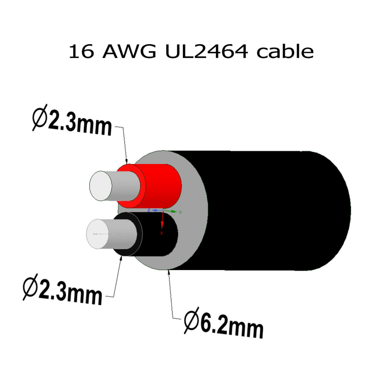 16/2 power cable for low voltage
