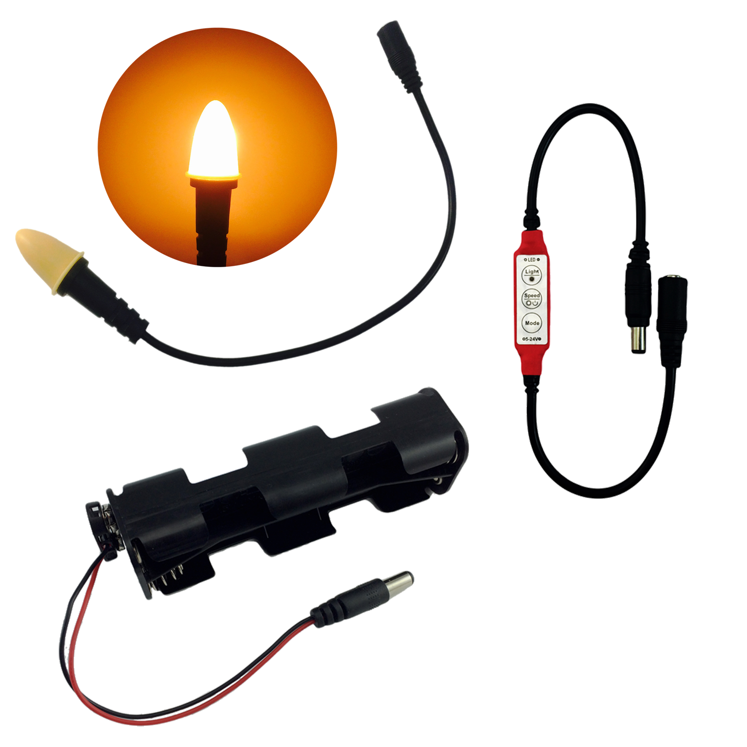 LED Candle Flame Light Kit with Flicker Control