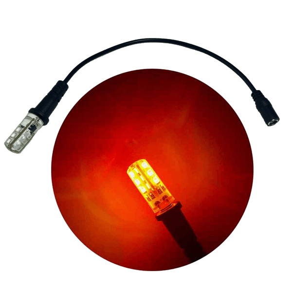 Ember orange led flame lights prop scenery lights fire effect led ember orange bi pin lamp 12 volt 19 lumen 1000 kelvin and enhanced effects light cable socket publicscrutiny Images
