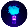 led blacklight with UV glow pigments
