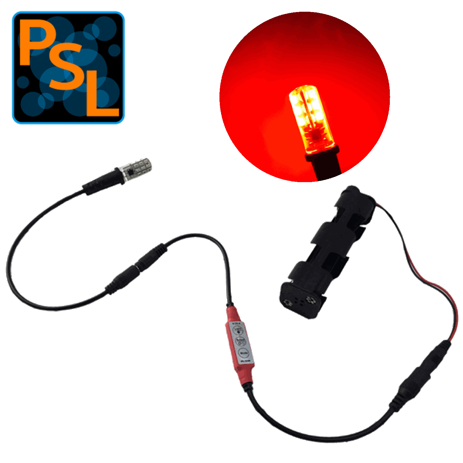 Eel Enhanced Effects Light Red Led Kit Flame Flicker Control And Battery Pack